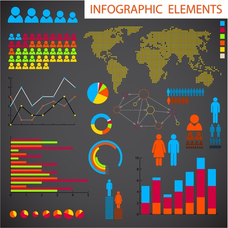 Big collection of Infographic elements for your documents Vector