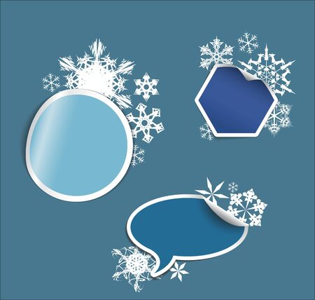 winter Labels, stickers, pointers, tags for your (web) page Vector
