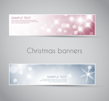 Set of christmas / New Year horizontal banners 2012 Vector