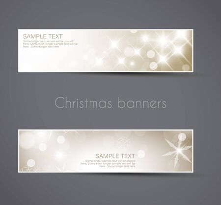 Set of vector christmas / New Year horizontal banners 2012 Stock Vector - 11535302