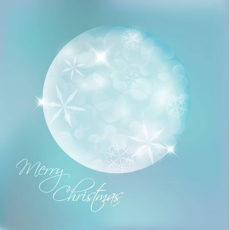 snoflake: Vector Christmas card with snowflakes and lights Illustration