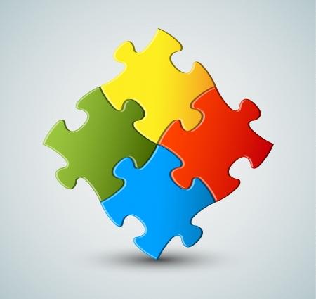 Abstract vector puzzel / oplossing achtergrond Vector Illustratie