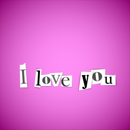 I love you vector illustration - made from anonymouse letters Stock Vector - 11892903