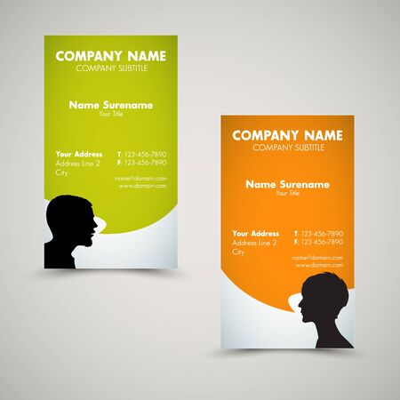 Vector Set of modern business card templates for man and woman Vector