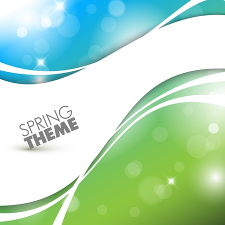 saturate: Vector Spring abstract background with place for your text