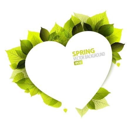 wedding: 春天抽象花背景(情人卡)的地方為您的文字 向量圖像