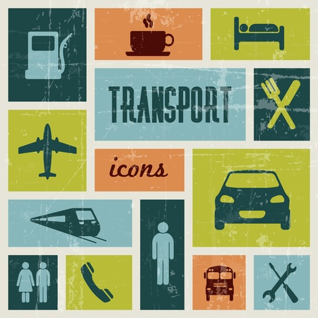 Vector vintage transport (traffic) poster Vector