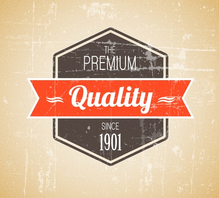 vintage: Old dark retro vintage grunge label - premium quality