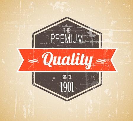 Old dark retro vintage grunge label - premium quality