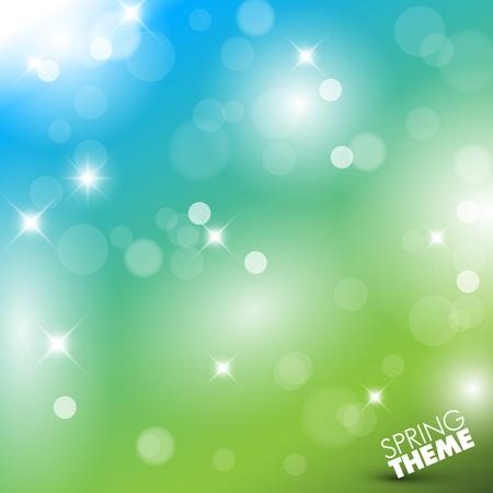 ciel: Vecteur de printemps fond abstrait avec la place pour votre texte