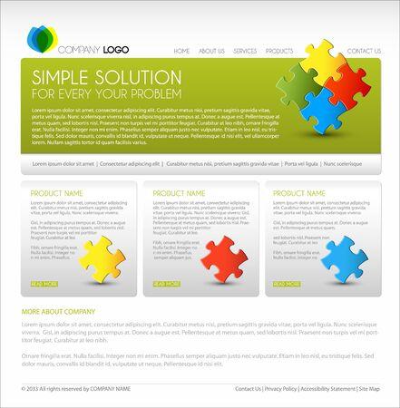Vecteur modèle moderne page web - version verte
