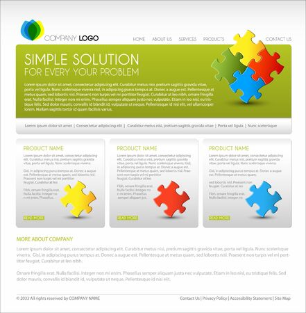 Vector Modern web page template - green version Vector