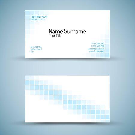 visitekaartje: Set van moderne vector adreskaartjemalplaatje - voor-en zijkant mack