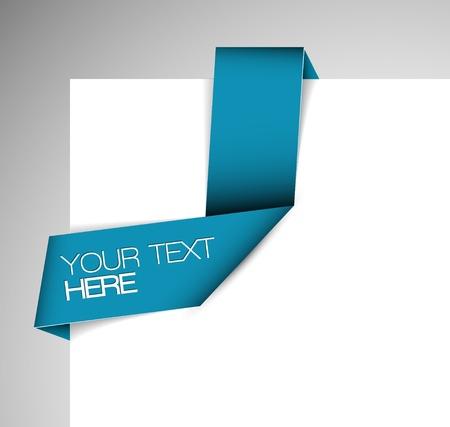 Vector Blue Paper origami ribbon / bookmark Zdjęcie Seryjne - 12324845