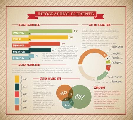 graficos de barras: Vector Big conjunto de elementos de Infograf�a de los documentos e informes (versi�n de color verde claro)