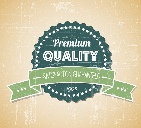 Old dark retro vintage grunge label - premium quality Vector