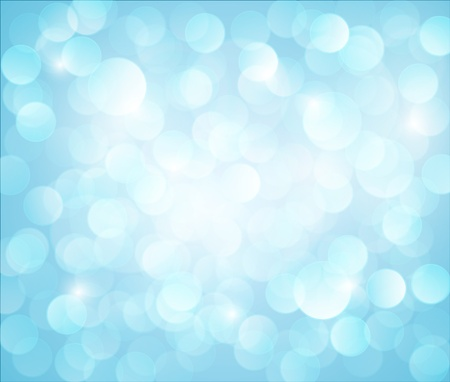 with light shadow: light blue Vector bokeh background made from white lights Illustration