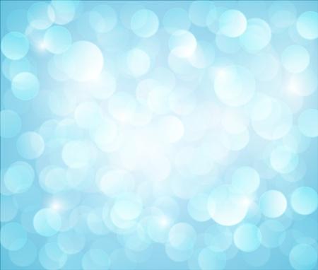 light blue Vector bokeh background made from white lights Stock Vector - 12324901