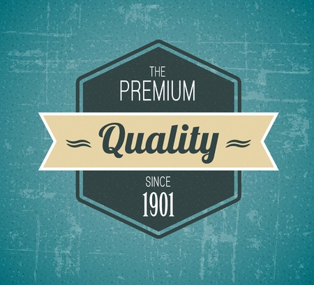 label vintage: Old vector dark retro vintage grunge label - premium quality Illustration