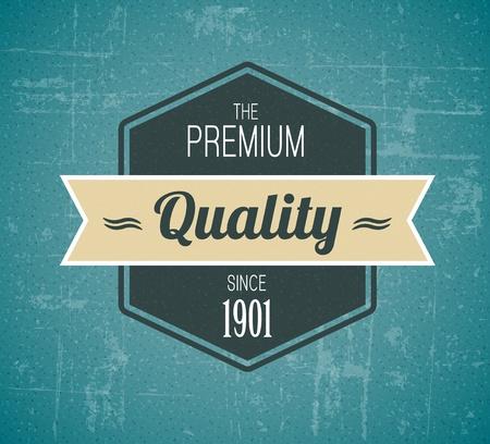 guaranteed: Old vector dark retro vintage grunge label - premium quality Illustration