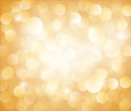 Sunny Yellow Vector bokeh background made from white lights Illustration