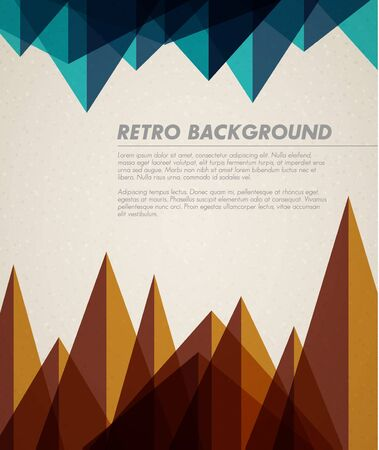 mountain: Vector grunge retro background  template with place for your text Illustration