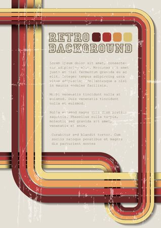 Retro background  template with place for your text Vector