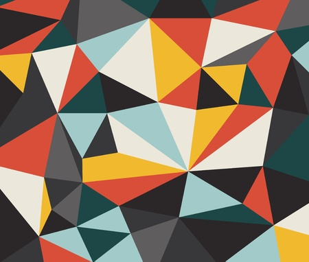 triangle shape: Retro background template with place for your text Illustration