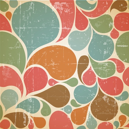 Colorful abstract retro  pattern made from various spatters Vector