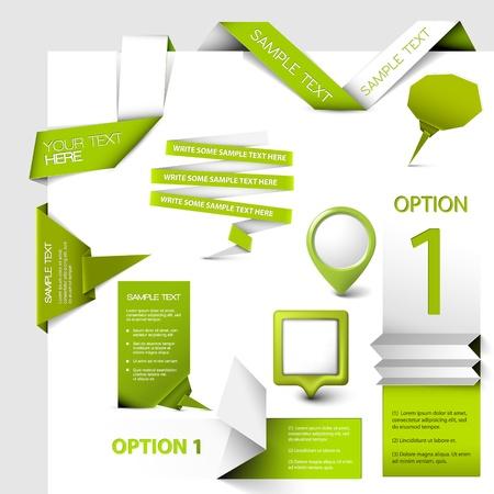 onglet: Ensemble d'�l�ments web verts