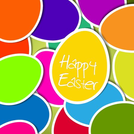 Easter card made from colorful eggs Vector