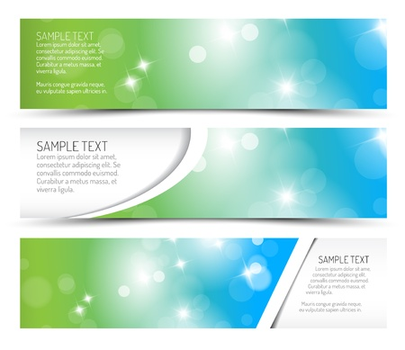 page borders: Set of spring horizontal banners - with place for your text