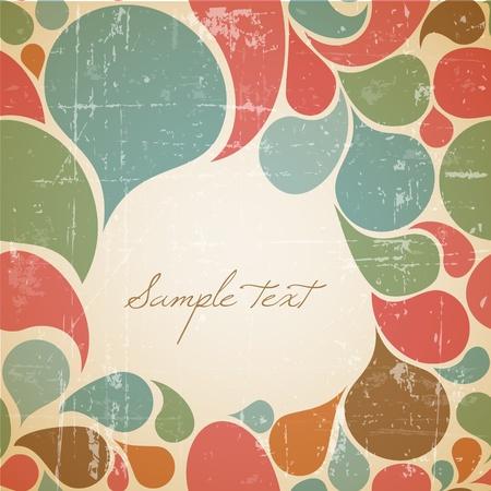 Colorful fond abstrait rétro avec place pour votre texte Vecteurs