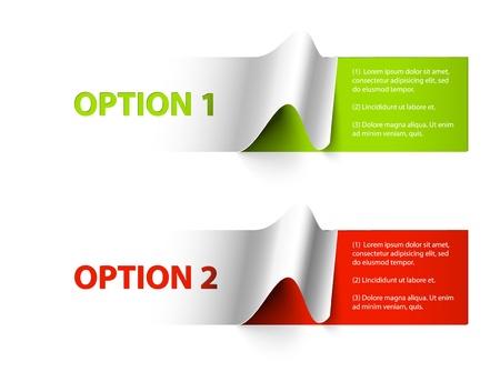 Juego de pegatinas de colores de muestra de las diversas opciones Ilustración de vector