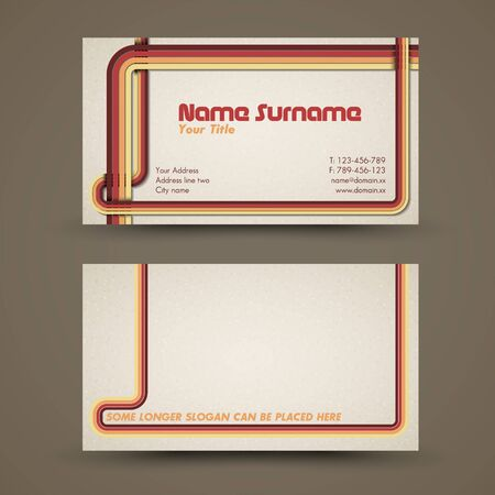 Old-style retro vintage business card both front and back side Stock Vector - 12490423