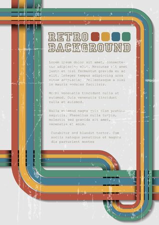 seventies: Retro background template with place for your text Illustration