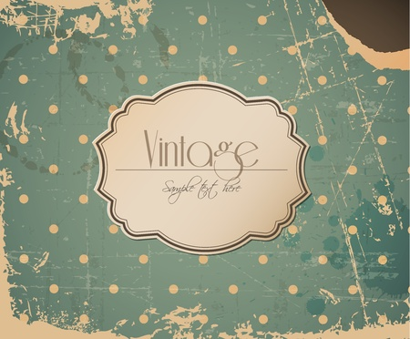 Vector grunge retro vintage background with label and place for your text Stock Vector - 12900218