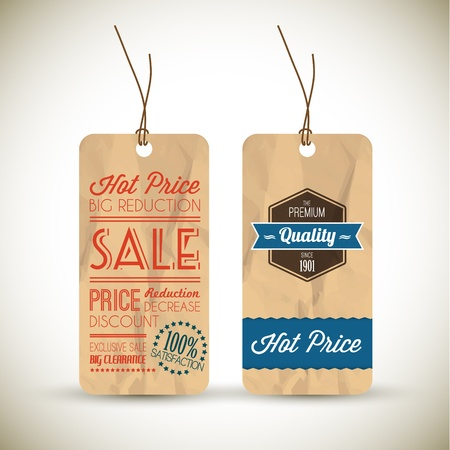 Old retro vintage grunge tags for premium quality and sale Stock Vector - 12900210