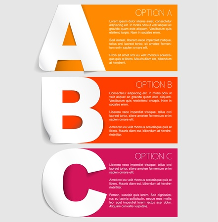 compare: Vector Paper Progress background  product choice or versions Illustration