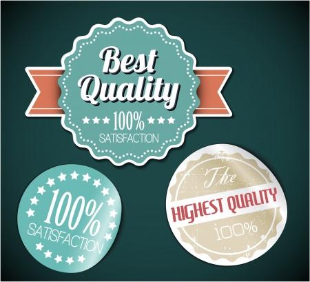 sticker: Old vector round retro vintage grunge stickers - best quality