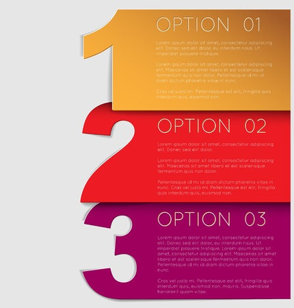 number one: Vector Paper Progress background  product choice or versions Illustration