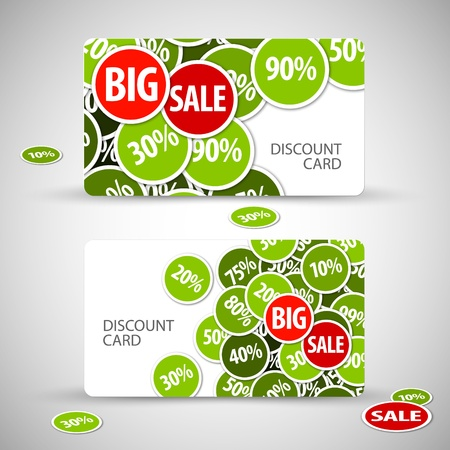 Set of big discount cards - with place for your text