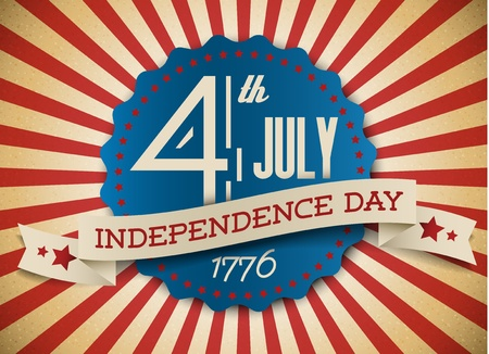 independence day badge  poster - retro vintage version Vector