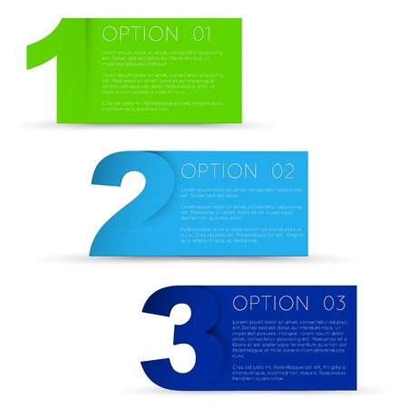 digit 3: Vector Paper Progress background  product choice or versions Illustration