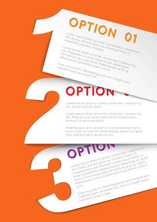 versions: Vector Paper Progress background  product choice or versions Illustration