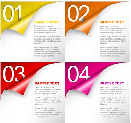 step by step: Vector Paper Progress background  product choice or versions Illustration