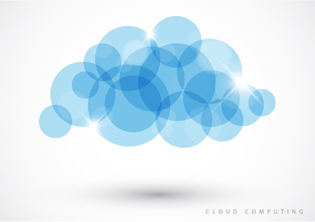 glimmer: Cloud computing icon made from blue circles - vector illustration