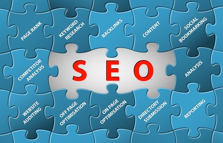keywords link: Search Engine Optimization Abstract vector puzzle background