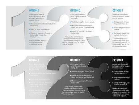 progress steps: Paper Progress background  product choice or versions Illustration