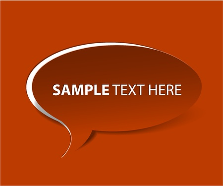 Red Bubble cut out paper - template for your content / text Stock Vector - 13523298